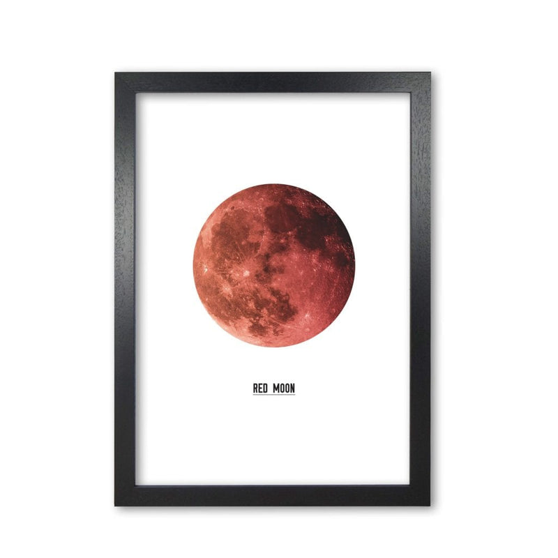 Red moon modern fine art print