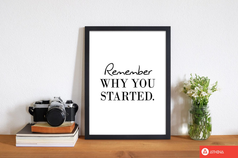 Remember why you started modern fine art print