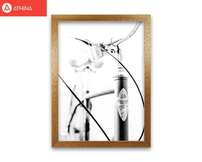 Retro bike frame modern fine art print