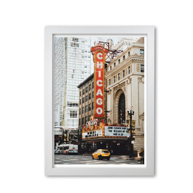 Retro chicago theatre modern fine art print