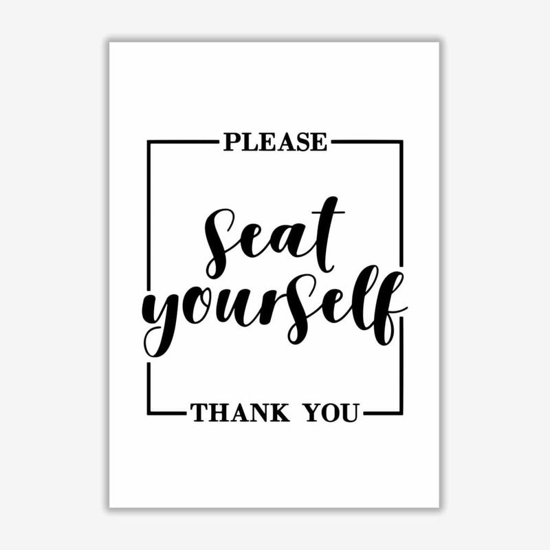 Seat yourself, bathroom modern fine art print, framed bathroom wall art