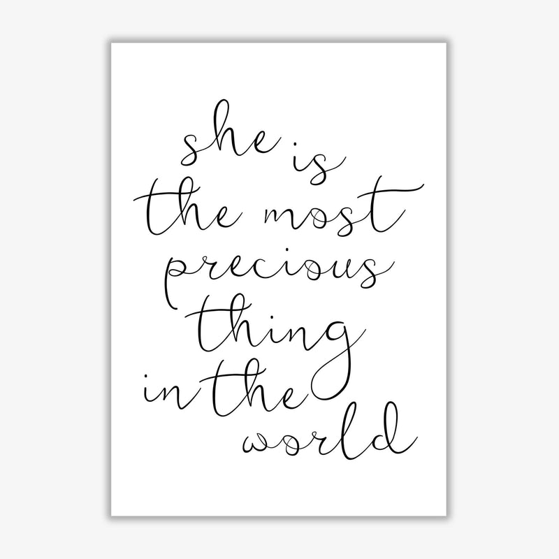 She is the most precious thing black modern fine art print