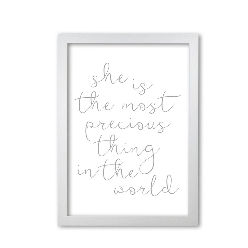 She is the most precious thing grey modern fine art print