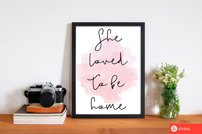 She loved to be homelink watercolour modern fine art print