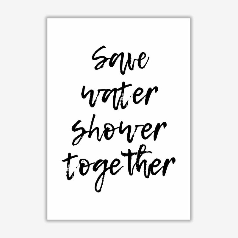 Shower together, bathroom modern fine art print, framed bathroom wall art