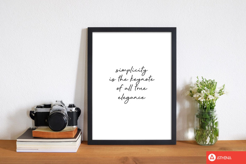 Simplicity is the keynote quote fine art print by orara studio