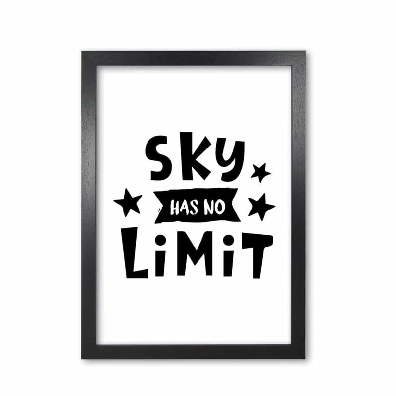 Sky has no limit modern fine art print, framed childrens nursey wall art poster