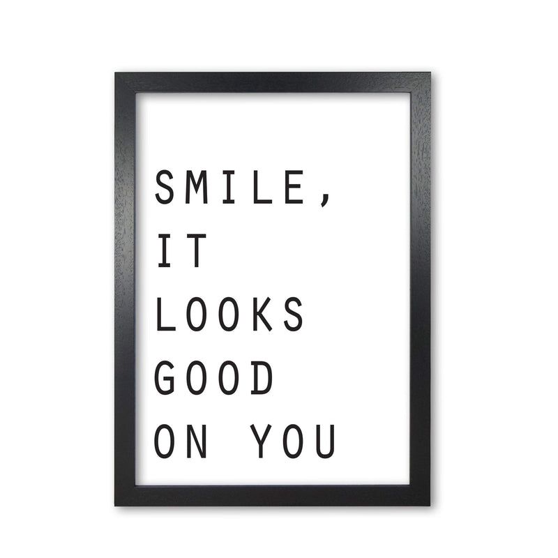 Smile, it looks good on you modern fine art print