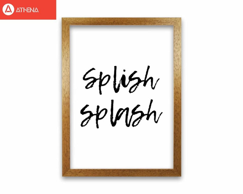 Splish splash, bathroom modern fine art print, framed bathroom wall art