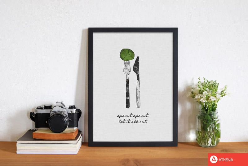 Sprout sprout fine art print by orara studio, framed kitchen wall art