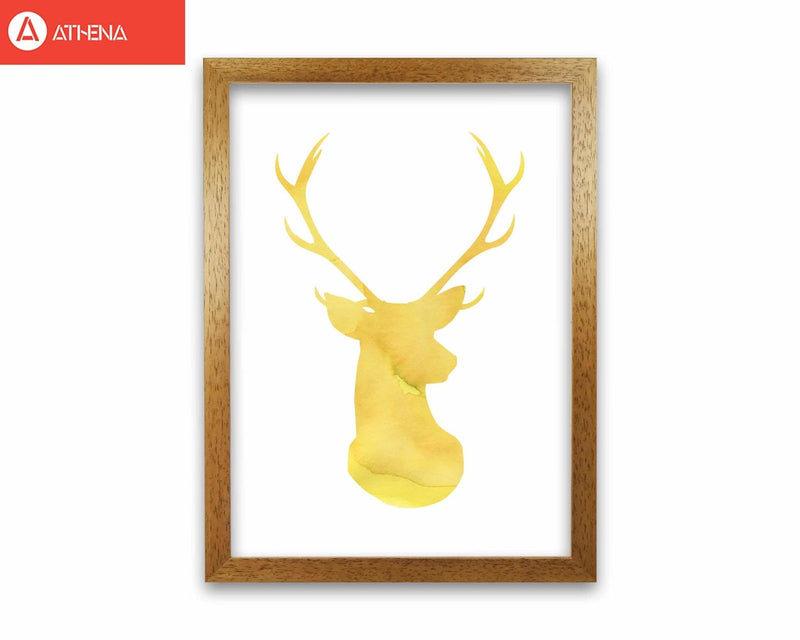 Stags head watercolour modern fine art print