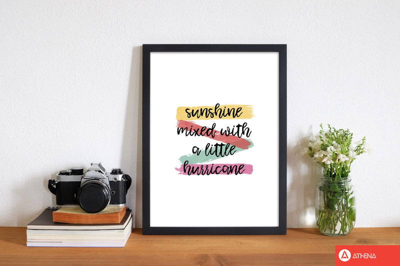 Sunshine mixed with a little hurricane fine art print by orara studio