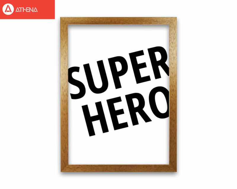 Superhero modern fine art print, framed childrens nursey wall art poster