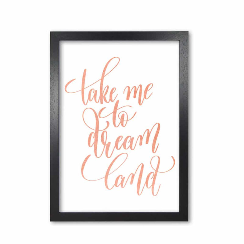 Take me to dreamland peach watercolour modern fine art print