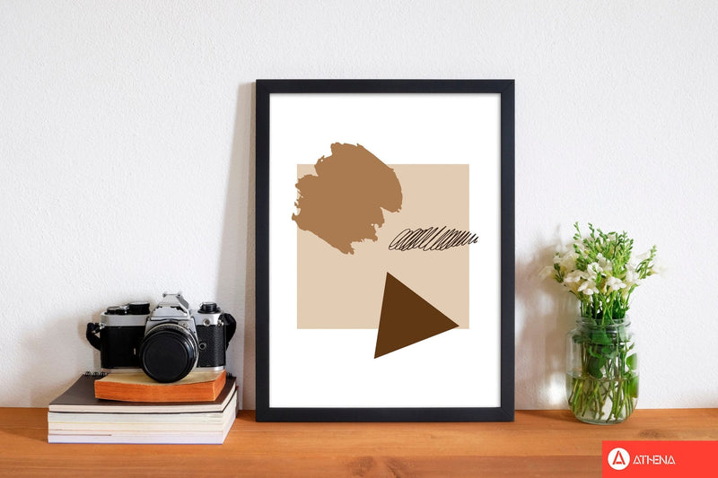 Taupe square mismatch abstract modern fine art print