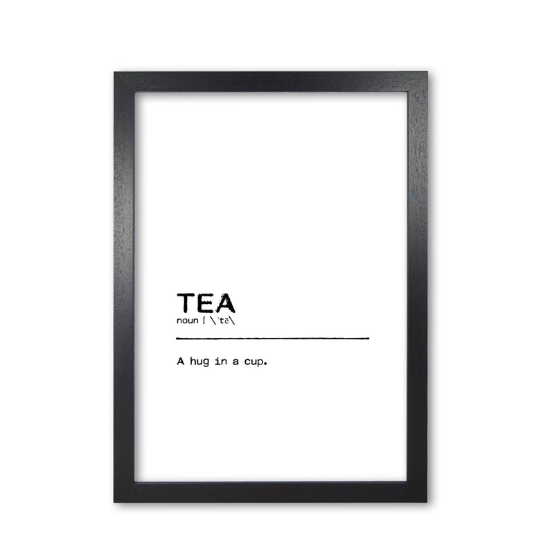 Tea hug definition quote fine art print by orara studio