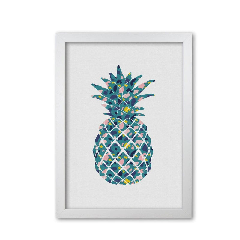 Teal pineapple fine art print by orara studio, framed kitchen wall art