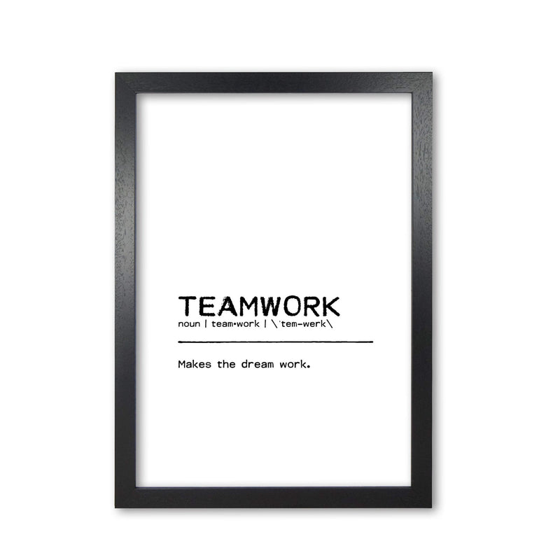 Teamwork dream definition quote fine art print by orara studio