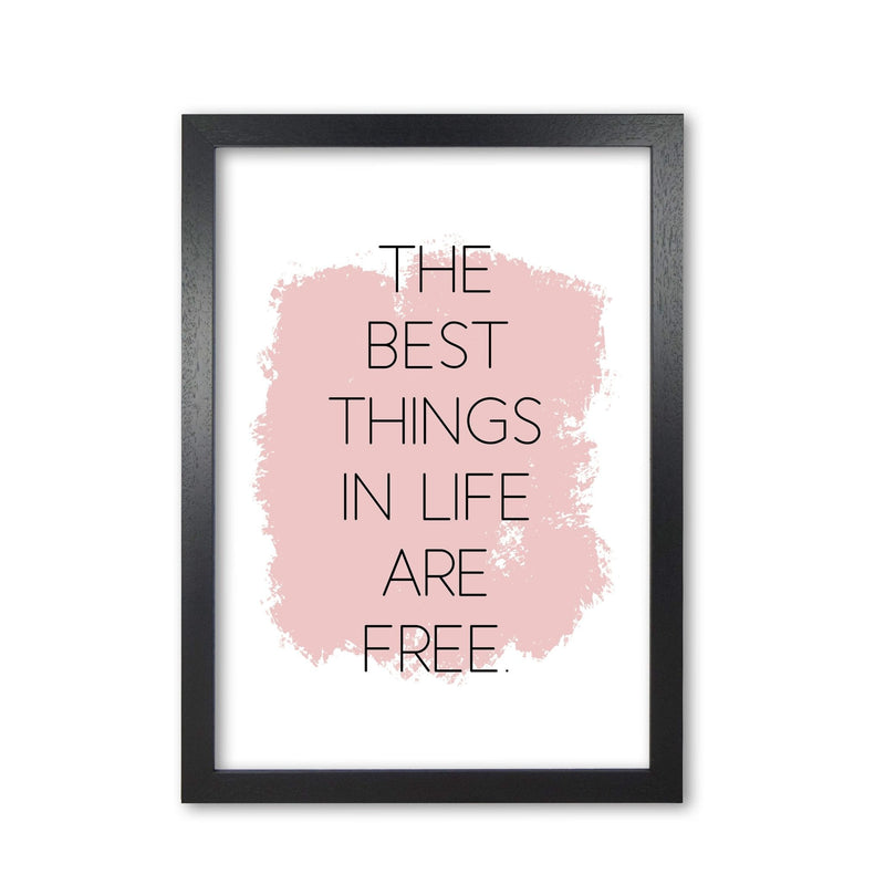 The best things in life are free modern fine art print