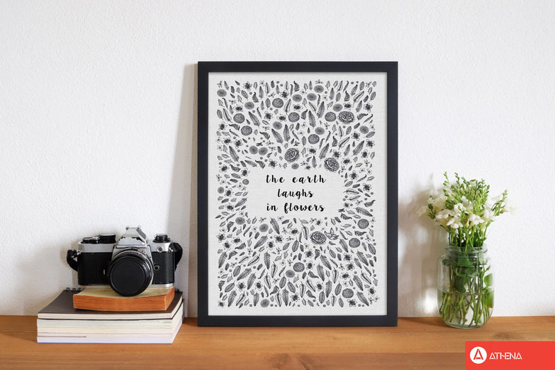 The earth laughs in flowers shakespeare quote fine art print by orara studio