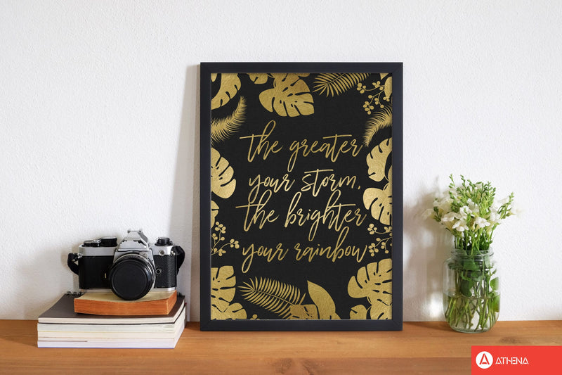 The greater your storm fine art print by orara studio