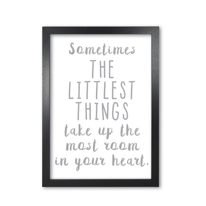 The littlest things grey modern fine art print