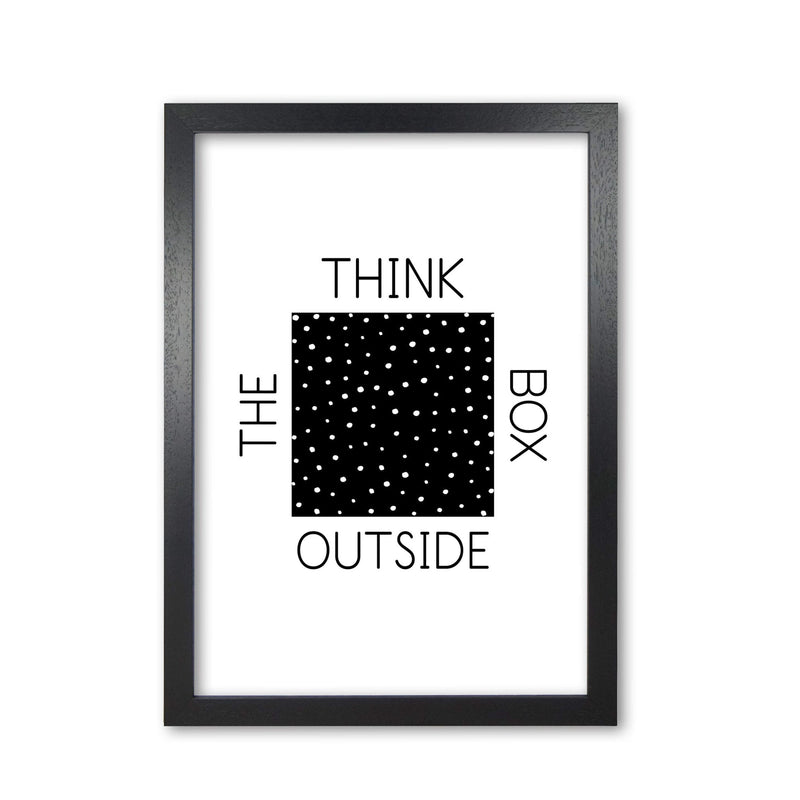 Think outside the box modern fine art print