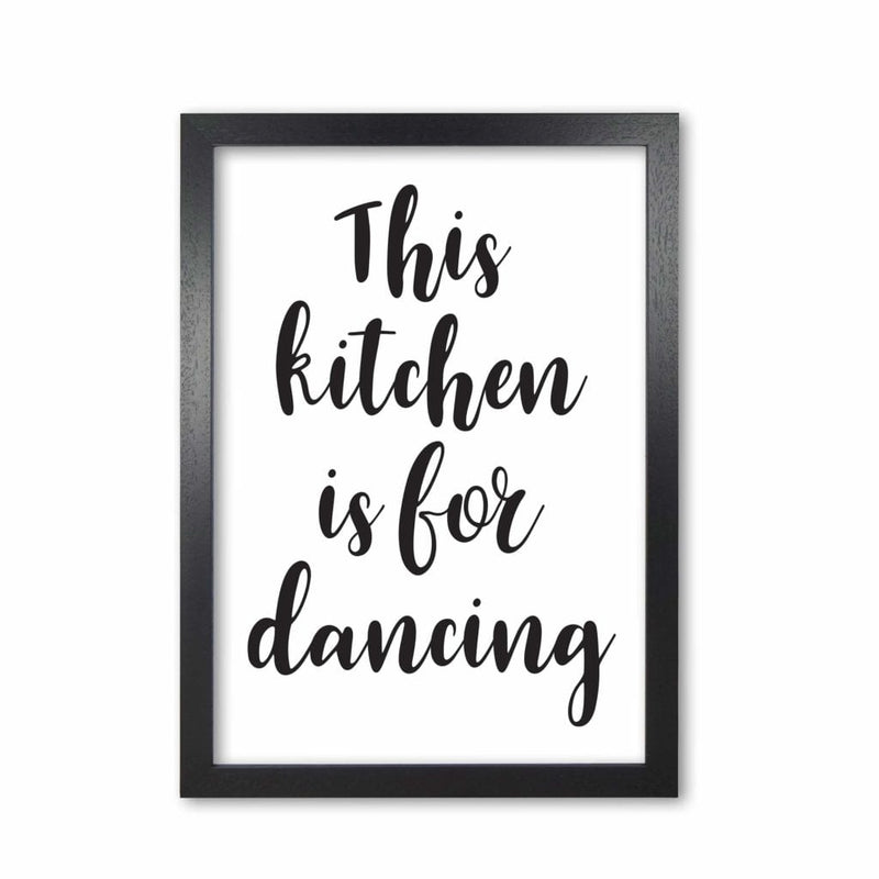 This kitchen is for dancing modern fine art print, framed kitchen wall art