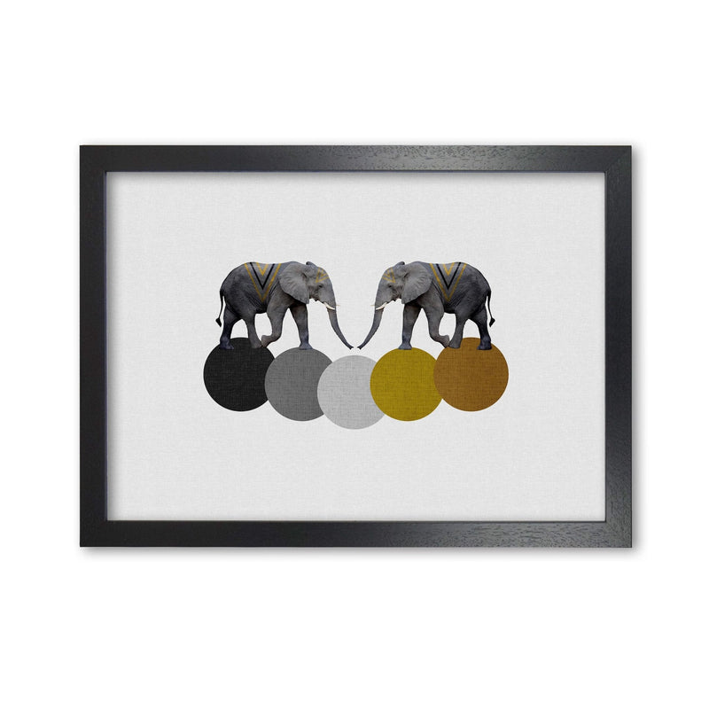 Tribal elephants fine art print by orara studio