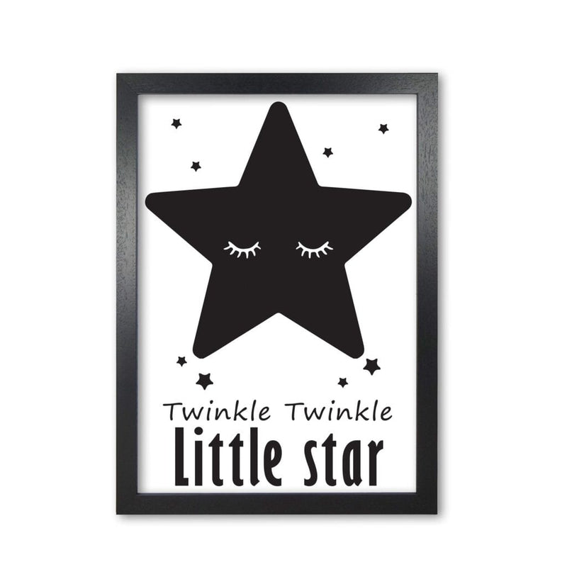 Twinkle twinkle little star modern fine art print, framed childrens nursey wall art poster