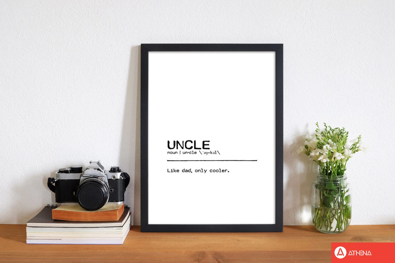 Uncle cool definition quote fine art print by orara studio