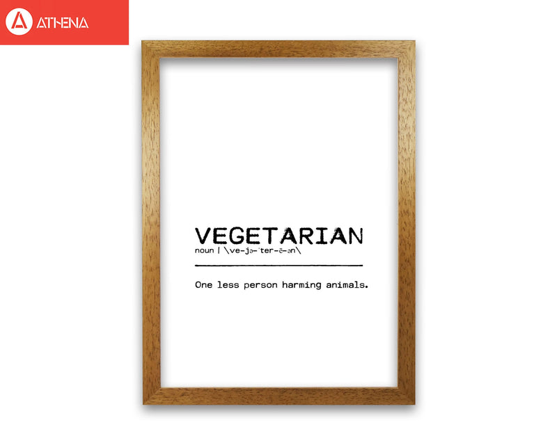 Vegetarian person definition quote fine art print by orara studio