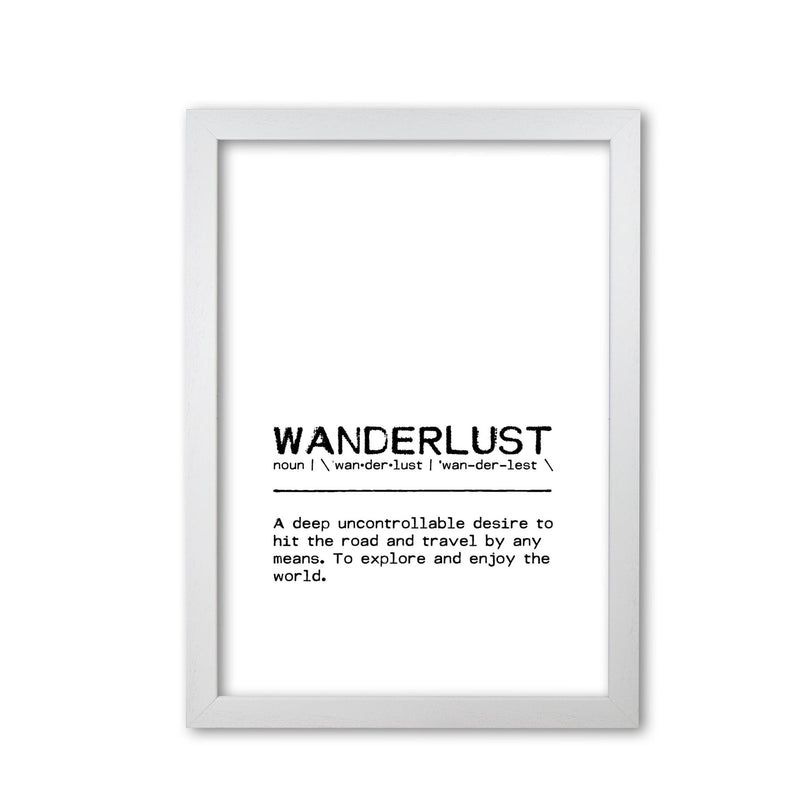 Wanderlust desire definition quote fine art print by orara studio