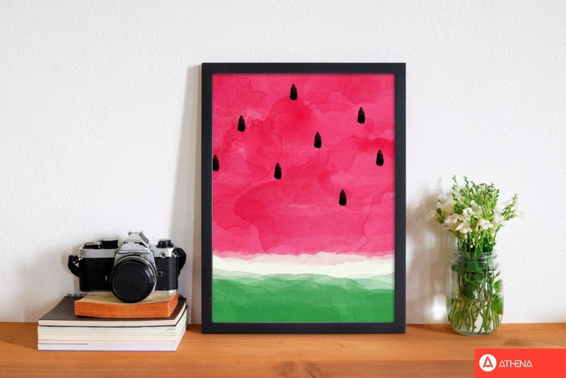 Watermelon abstract fine art print by orara studio, framed kitchen wall art