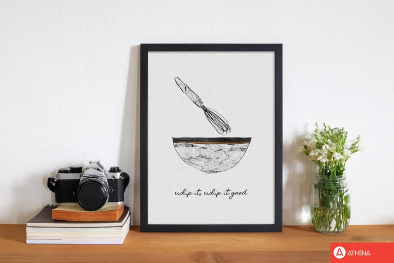 Whip it good fine art print by orara studio, framed kitchen wall art