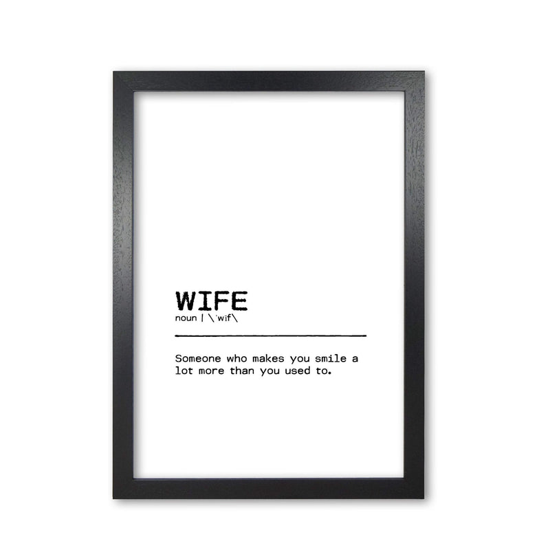 Wife smile definition quote fine art print by orara studio