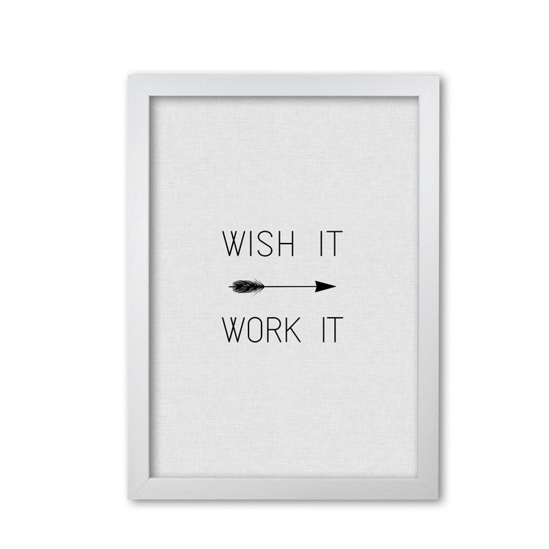 Wish it work it arrow quote fine art print by orara studio