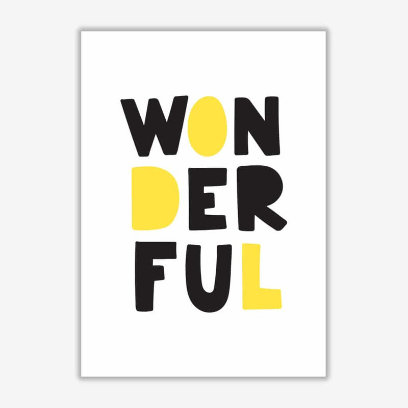 Wonderful black and yellow modern fine art print, framed childrens nursey wall art poster