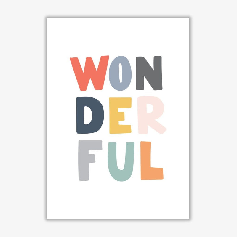 Wonderful colour modern fine art print, framed childrens nursey wall art poster