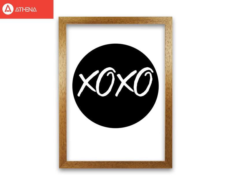 Xoxo black circle modern fine art print