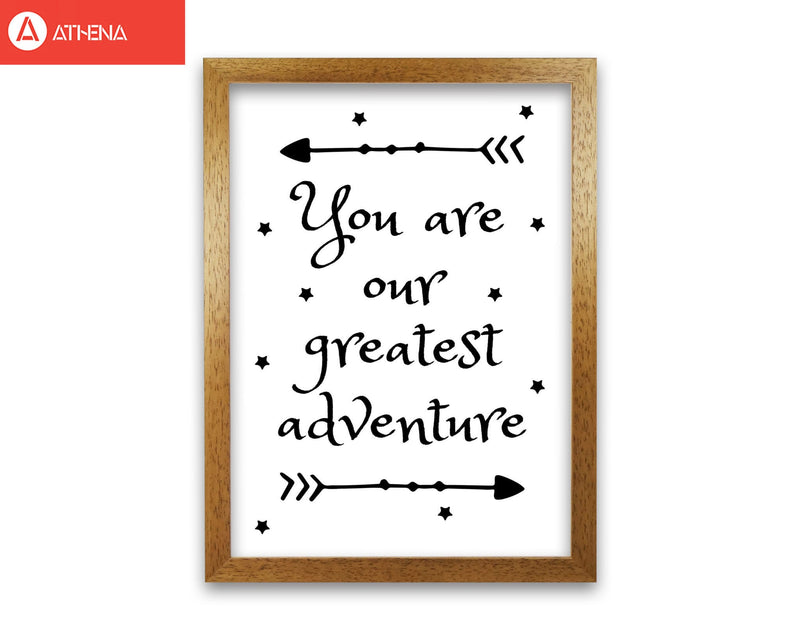 You are our greatest adventure black modern fine art print