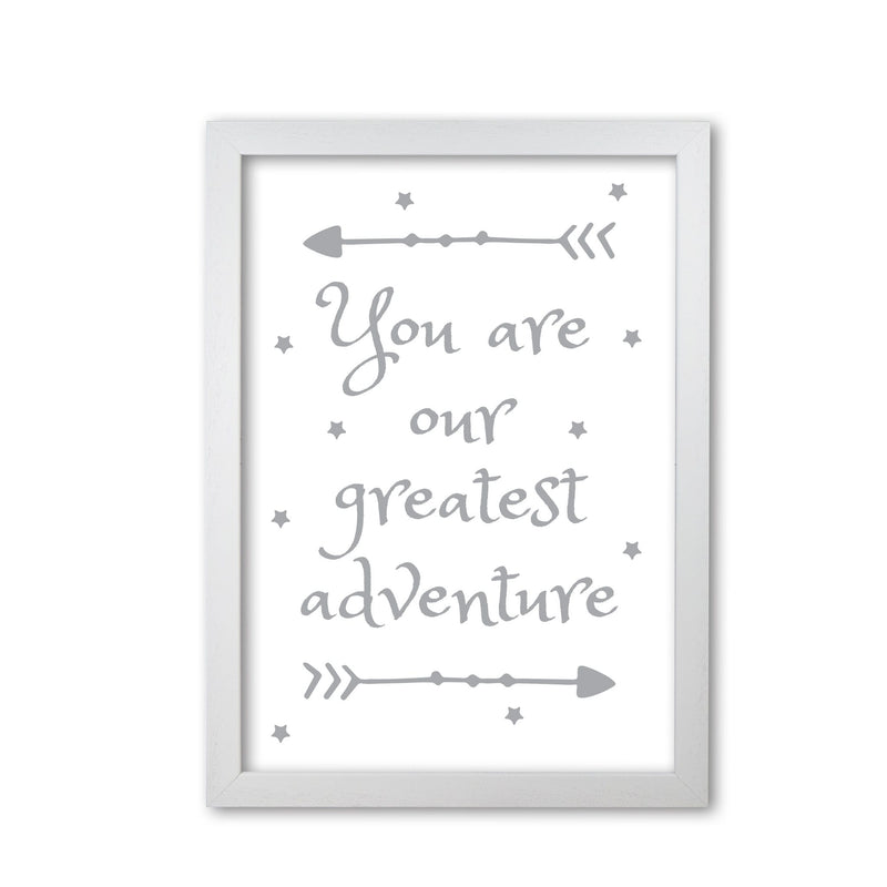You are our greatest adventure grey modern fine art print
