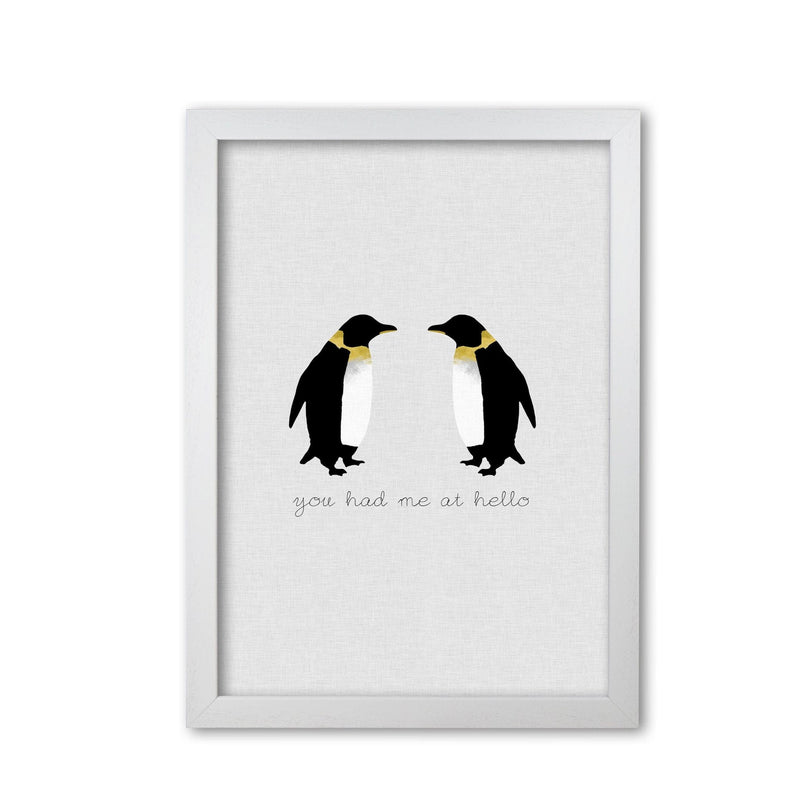 You had me at hello penguin quote fine art print by orara studio
