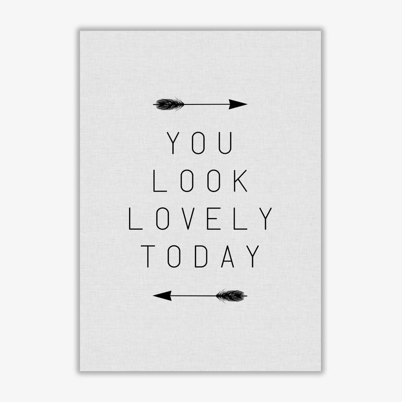 You look lovely today arrow quote fine art print by orara studio