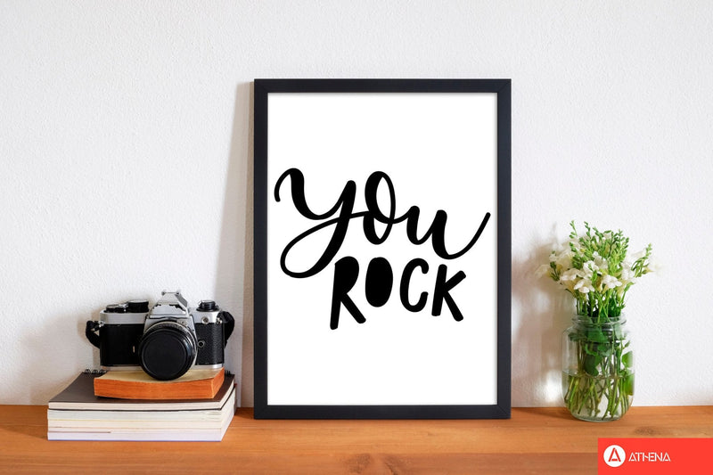 You rock modern fine art print