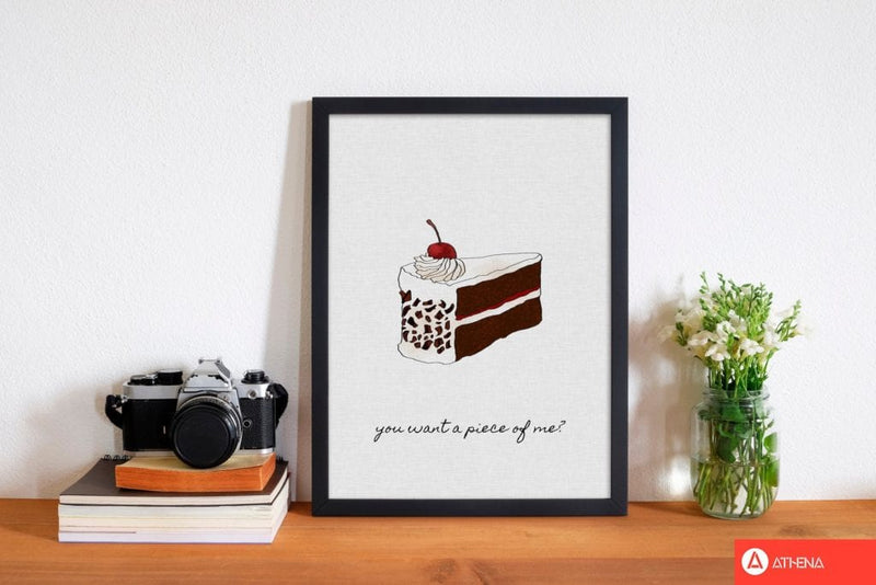 You want a piece of me fine art print by orara studio, framed kitchen wall art