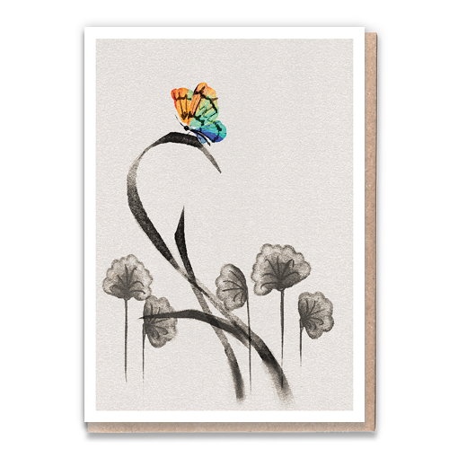 1 Tree Card 100% Recycled Greeting Card Vegan Inks - Butterfly
