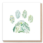 1 Tree Card 100% Recycled Greeting Card Vegan Inks - Green Paw