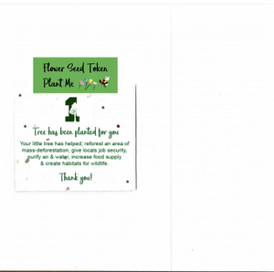 1 Tree Card 100% Recycled Greeting Card Vegan Inks - Green Gift