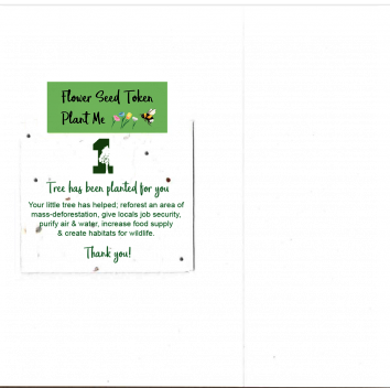 1 Tree Card 100% Recycled Greeting Card Vegan Inks - Happy 4th Birthday